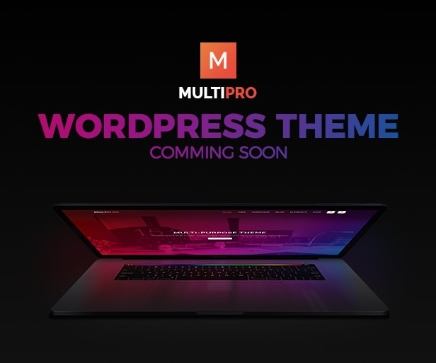 MultiPro Multi Purpose WordPress Template